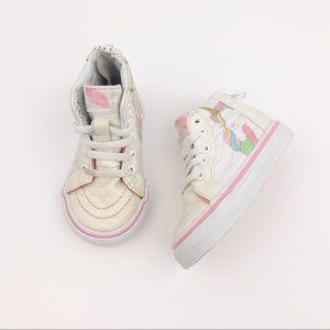 Vans | Pink White Unicorn Sparkle High Tops 4
